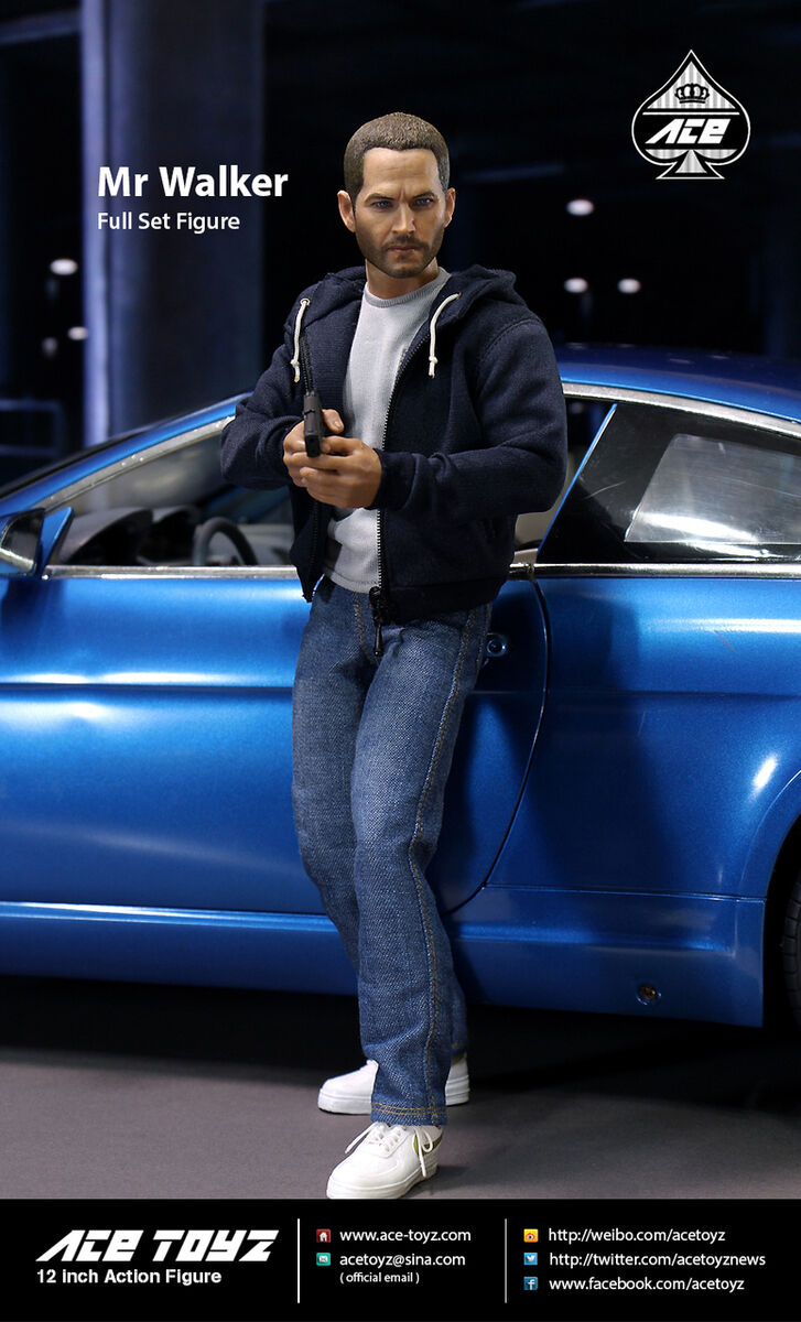 AceToyz 1/6 AT-004 Mr. Walker The Fast & Furious Brian O'Conner Paul Figure Nuovo