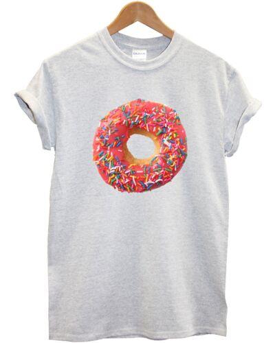 Pink Doughnut T Shirt Top Ring Men Women Dunkin Donut Swag Hipster Apparel Inct