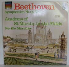 BEETHOVEN SYMPHONIEN NR.1 & 2 NEVILLE MARRINER ST.MARTIN-IN-THE-FIELDS LP (e661)