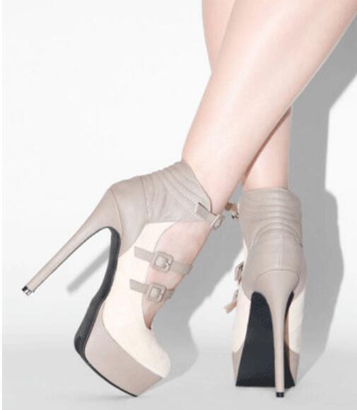 Chaussures Femme Plateforme Style Européen Décontracté Boucle Stilettos Talon Haut Chaussures