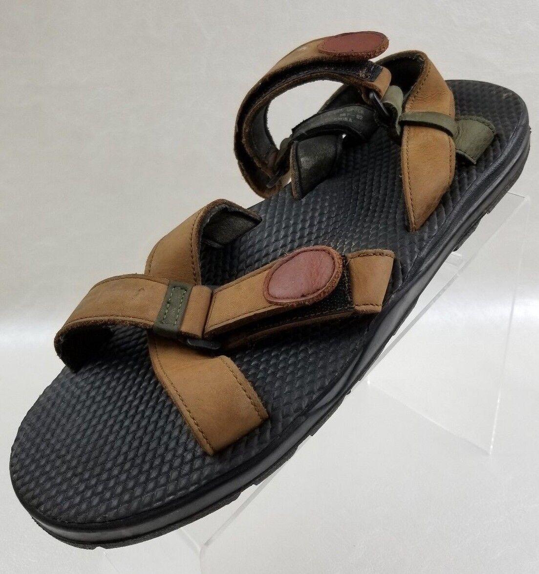 Nunn Bush Sandals Mens Open Toe Cross Strap Brown Leather shoes Size 12M