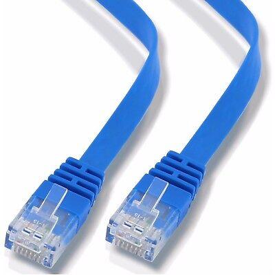 Nuovo Piatto Rj45 Cat6 Cavo Ethernet Lan Internet Di Rete Patch In Rame Lotto 1000 Mbps- Con Le Attrezzature E Le Tecniche Più Aggiornate