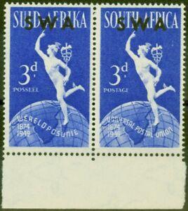 S. W.A 1949 Wpv 3D Hellblau SG140b See IN East Africa Fein MNH