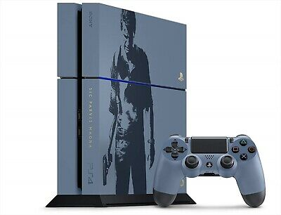 Playstation 4 Ps4 Uncharted Limited Edition Console Set Gray Blue