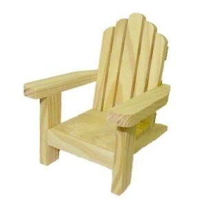 Dollhouse Miniature Wood Adirondack Chair 1 12 Scale Doll