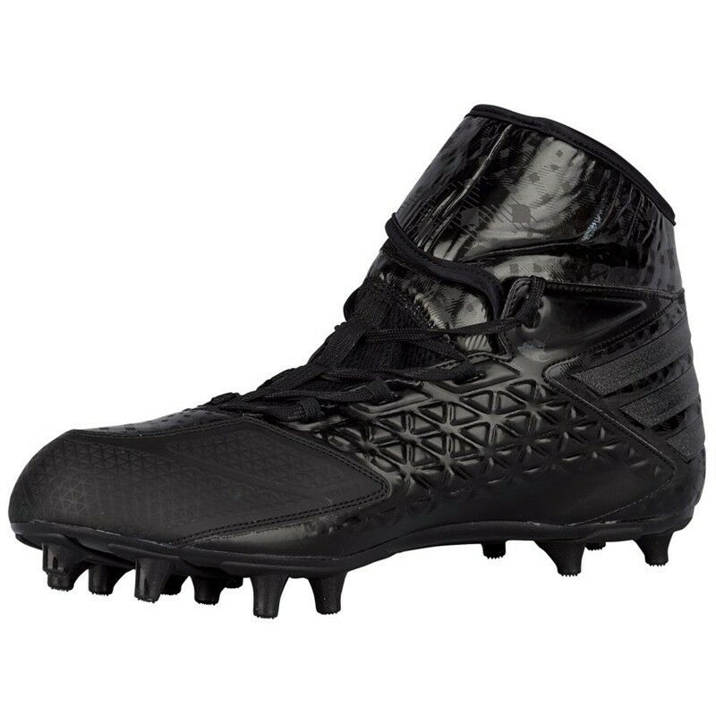 ADIDAS FREAK HIGH WIDE FOOTBALL CLEATS IRON  MEN SHOES BLACK IRON CLEATS SKIN D70152 SZ 13.5 ce0044