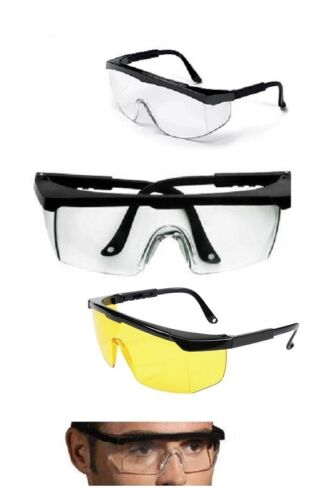 10xSAFETY GLASSES SAFETY EYE PROTECTION NEW