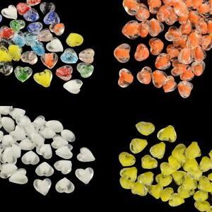 10-x-16mm-Lampwork-Glass-Hearts-Glow-in-the-Dark-Luminous-Beads