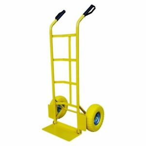 Hand-Trolley-LIFT-600-LB-272-KG-Heavy-Duty-Industrial-Sack-Truck-YELLOW