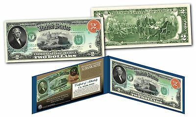 Set of 3 $5 1869 RAINBOW SERIES Currency Notes Designed on Genuine New $1 $2