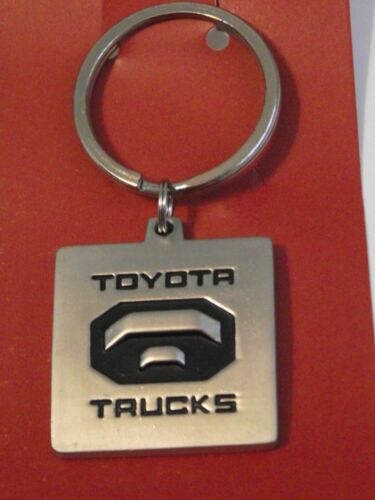 "Toyota truck silver tone /& black metal key chain ring new 2.5/""L"