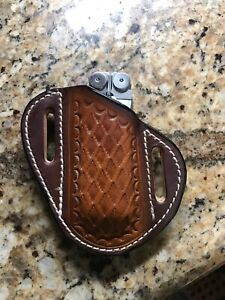 Formed-Tooled-Snake-Pattern-Leather-Sheath-for-Leatherman-Wave-NO-Multitool