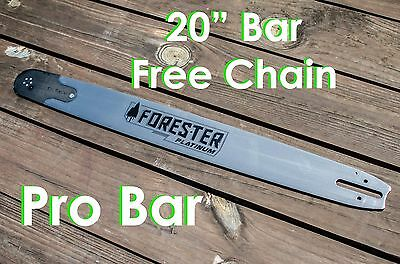 """20/"""" Forester Laminated Bar W//FreeChain 3//8/"""" pitch 72 link Fits Husky 050 gauge"""