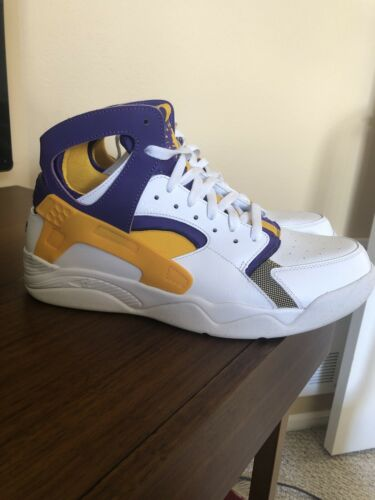 Nike Flight Huarache Qs Lakers Kobe PE SZ 11.5