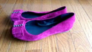 Jessica-Simpson-Red-Bow-Flats-Size-6B