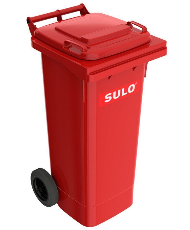 80 Liter MGB Mülltonne Müllgroßbehälter Abfalleimer Futtertonne Behälter rot