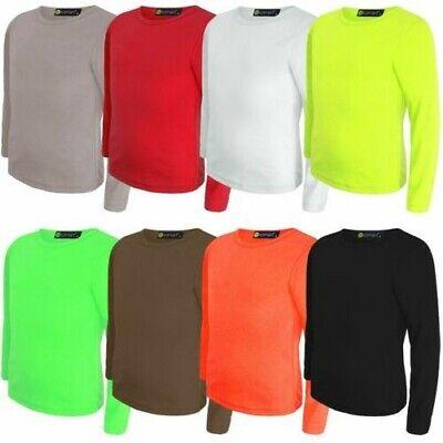 Vêtements, Accessoires Pour Enfants Uni Basique T-shirt Filles Haut Col Rond Garçon Manches Longues Fin The Latest Fashion