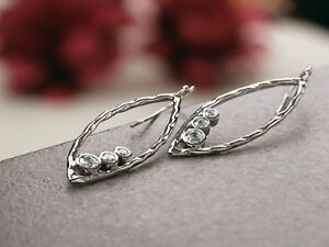 PAZ-Creations-925-Sterling-Silver-Marquise-Shaped-Dangle-CZ-Earrings-Israel