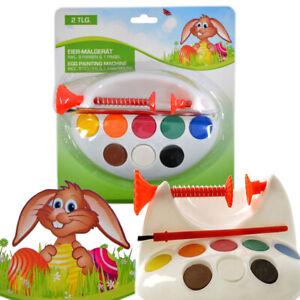 Ostereier Malgerät Eierhalter Eier Bemalen Eiermalstation 8 Farben Pinsel Ostern