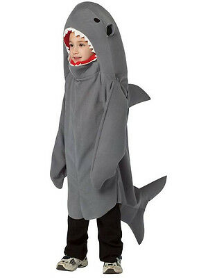 Child Sea Shark Animal Fish Kids Fancy Dress Costume Outfit Girls Boys Unisex BN