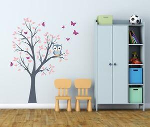 Wandaufkleber für Kinder Aufkleber Eule Baum Kinderzimmer ...
