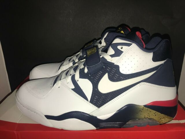 Nike Air Force 180 Olympic USA Men Basketball Lifestyle Shoes White ... eb40c2ed10