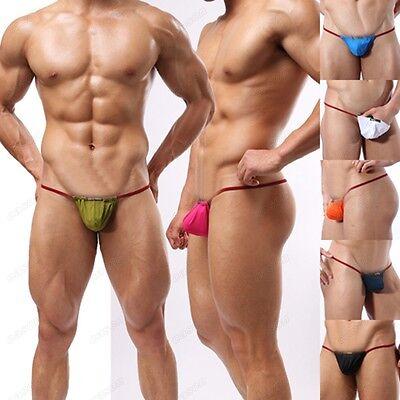 Men's Sexy Pouch G-string Nightwear Strip Thong Underwear Shorts Size S M L