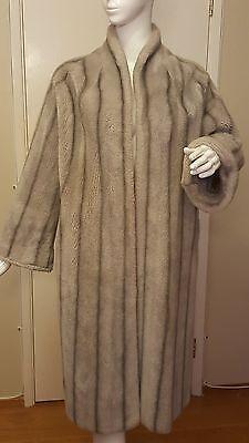 Vintage, Princeton's O'llegro, Faux Blue Fox Fur,  Swing Coat (Junior Petite)