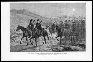 1884-Antique-Print-AFGHANISTAN-Boundary-Commision-Iran-Persia-Army-March-13