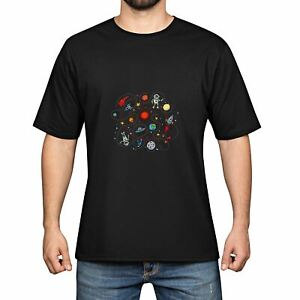 Outer-Space-Men-039-s-Cotton-Funny-Cool-T-shirts-Short-Sleeve-Tops-Tee