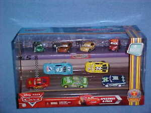 DISNEY-PIXAR-CARS-SPEEDWAY-9-PACK-PISTON-CUP-NIGHTS-KING-CHICK-HICKS-TIM-RIMMER