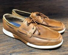7207f0693fbe 22798 Tommy Bahama Ashore Thing Men s Leather Relaxology Loafer Boat Shoes  ...