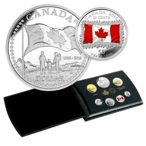 2015-Canada-Proof-Set-50th-Anniversary-Flag-9999-Silver-Dollar-Special-Edition-C