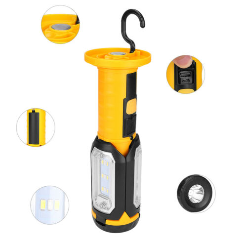 LED COB Work Light USB Rechargeable Magnetic Garage Inspection Lamp Hand Torch