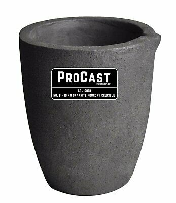 50 OZ GRAPHITE CRUCIBLE CUP BASE MELTING ALLOY METAL INGOT CASTING SUPPLIES