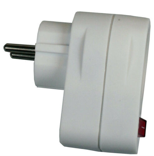 10x 1er SCHALTER Schuko Doppel Steckdose Adapter Schukostecker Verteiler ES