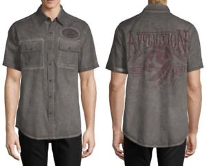 5 Eighty Eight AFFLICTION Mens BUTTON DOWN SHIRT Express Roar Jeans $68