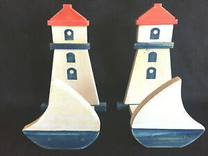 Lighthouse-Decorative-Holders-Set-of-2-Napkin-Letter-Wall-Hanging-Nautical