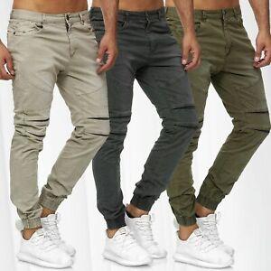 Herren-Jogginghose-Chino-Jogger-Hose-Biker-Pants-Destroyed-Freizeit-Casual-Pants