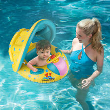 Safety Baby Kids Child Swimming Boat Pool Floats with Sunshade Canopy