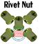 M4-0.7mm//4mm Metric Flat Head Blind Insert Rivet Nut 20