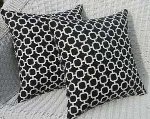 2 Pack Black White Circles Retro Decorative Indoor Outdoor Throw