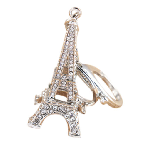 Eiffelturm Strass Schlüsselanhänger Charm Anhänger Handtasche Tasche YLW