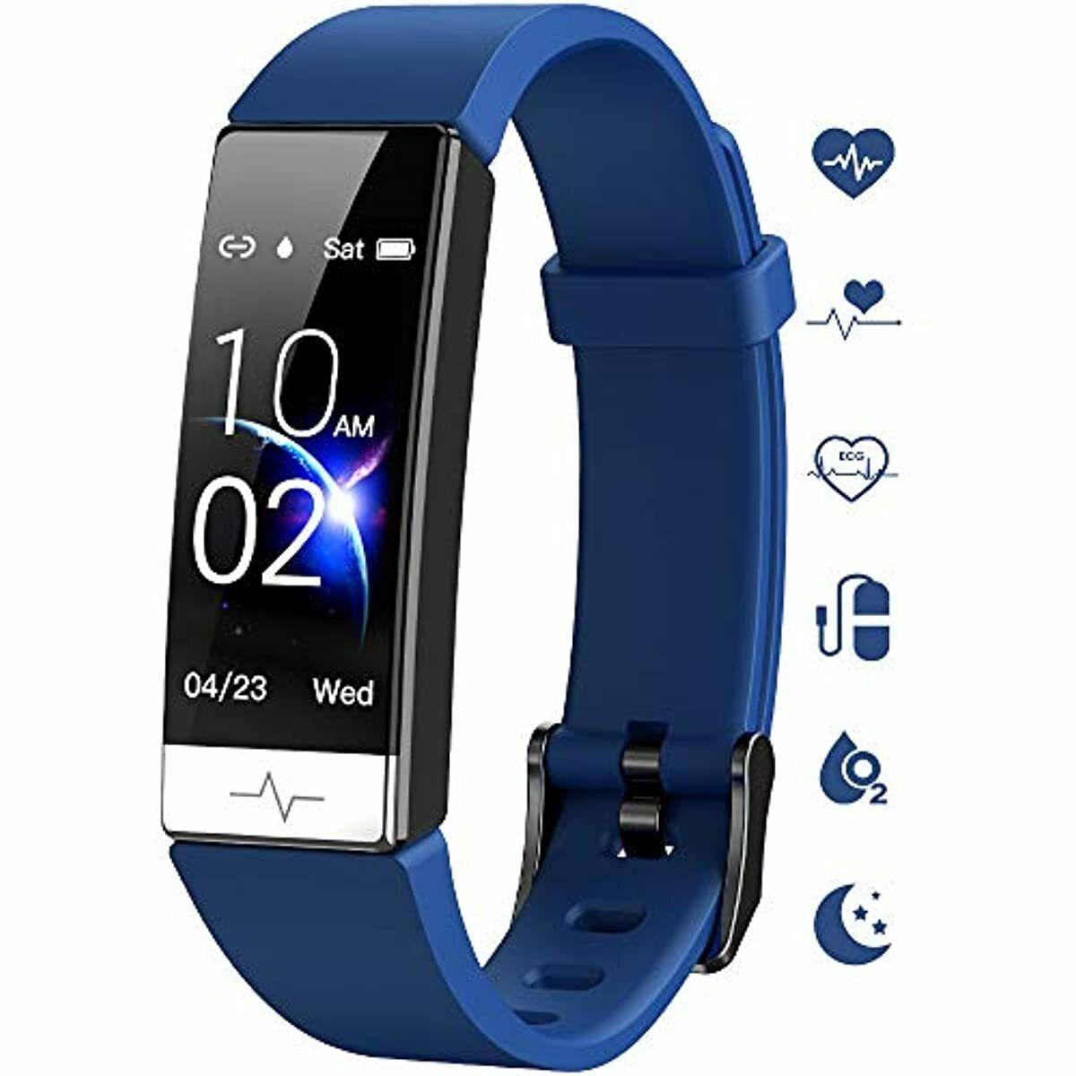 Fitness Tracker, Heart Rate Monitor IP68 Waterproof Activity Tracker HRV H