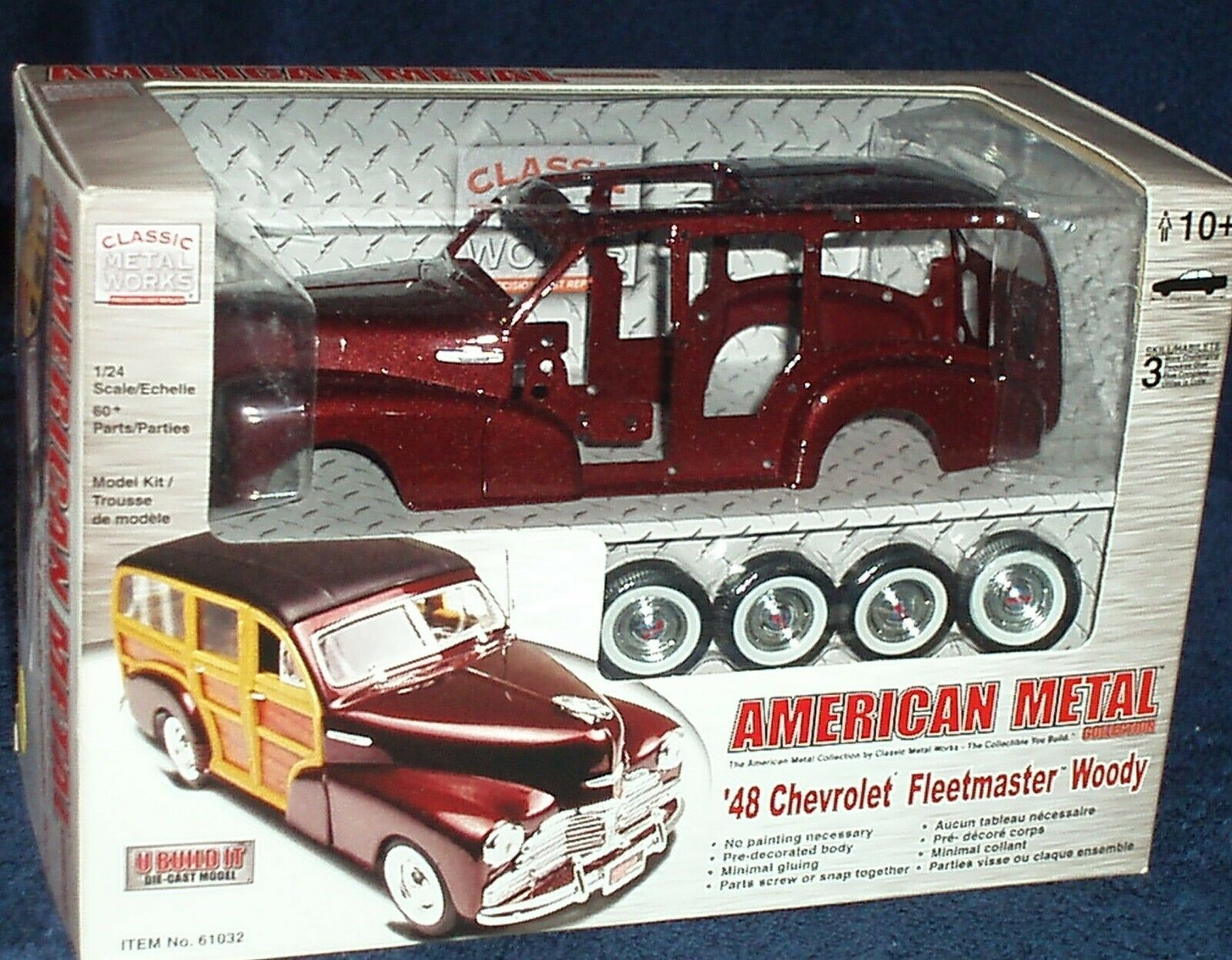 CLASSIC METAL WORKS 1948 CHEVY FLEETMASTER WOODY ASSEMBLY KIT 1 24 SKILL 2