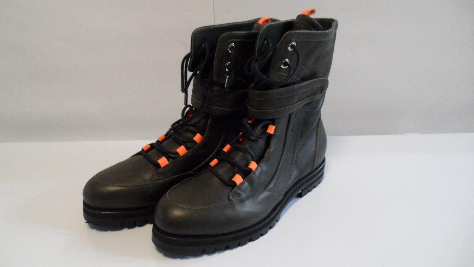 prezzi bassi di tutti i giorni Jimmy Choo Army verde Smooth Smooth Smooth Leather  Combat stivali Sz 37 7 Made in   all'ingrosso a buon mercato