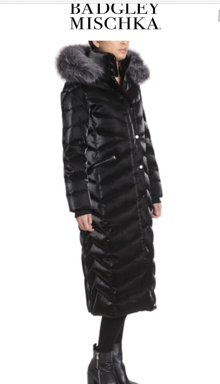 BADGLEY MISCHKA .Luxury Ladies Puffer Jacket Size L . Really Eye Catching !!!