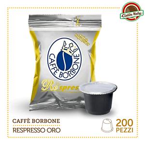 200-Cialde-Capsule-Caffe-Borbone-Respresso-Miscela-ORO-e-compatibile-Nespresso