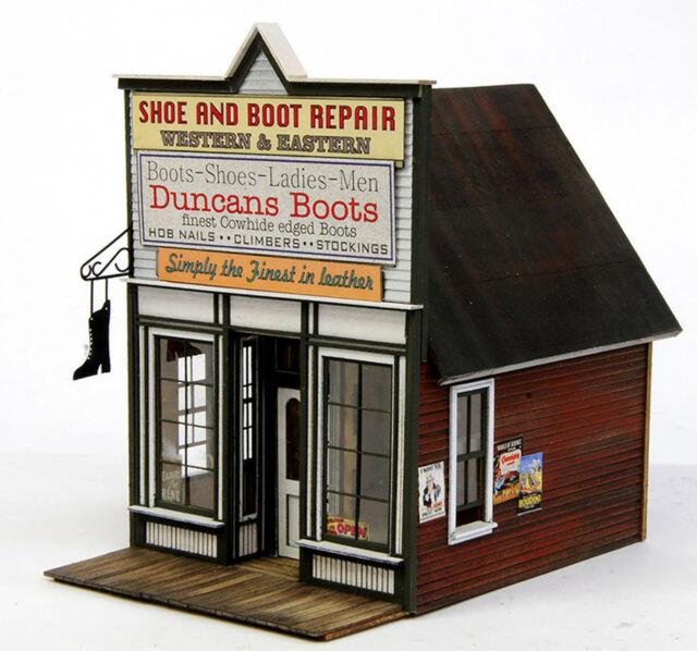 BANTA 2120 HO HON3 DUNCAN'S BOOTS Model Railroad Building Wood Kit FREE SHIP