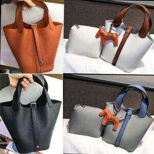 Women-Genuine-Leather-Handbag-Tote-Shoulder-Messager-Bag-Satchel-Bucket-bag
